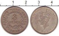 Изображение Монеты Западная Африка 3 пенса 1938 Медно-никель XF