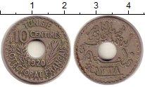 Изображение Монеты Тунис 10 сантимов 1920 Медно-никель XF