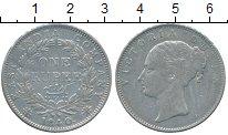 Изображение Монеты Британская Индия 1 рупия 1840 Серебро XF