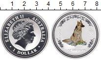 Изображение Монеты Австралия 1 доллар 2006 Серебро Proof Цифровая  печать.  Е