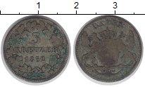 Изображение Монеты Германия Баден 3 крейцера 1852 Серебро VF