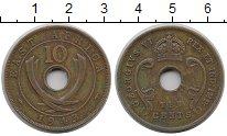 Изображение Монеты Великобритания Восточная Африка 10 центов 1943 Бронза XF