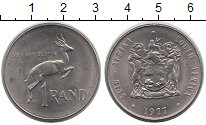 Изображение Монеты ЮАР 1 ранд 1977 Медно-никель UNC- Антилопа - прыгун