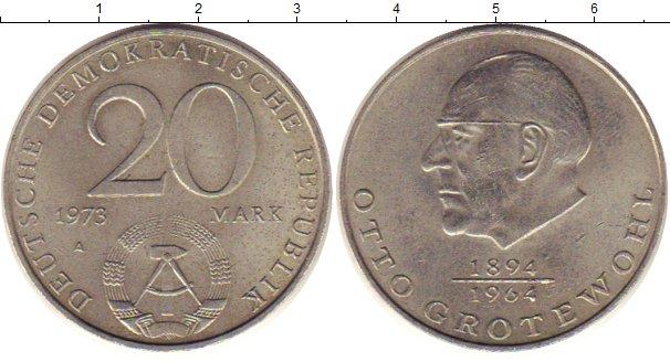 Картинка Монеты ГДР 20 марок Медно-никель 1973