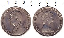 Изображение Монеты Остров Святой Елены 50 пенсов 1984 Медно-никель UNC- Елизавета II.  Визит