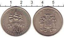 Изображение Монеты Ямайка 20 центов 1976 Медно-никель UNC-
