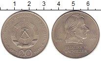 Изображение Монеты ГДР 20 марок 1972 Медно-никель UNC Фридрих  Шиллер