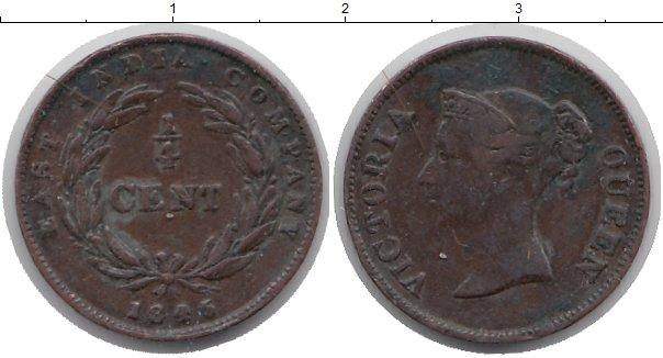 Картинка Монеты Индия 1/4 цента Медь 1845
