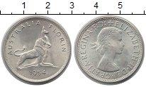 Изображение Монеты Австралия 1 флорин 1954 Серебро UNC