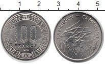 Изображение Монеты Камерун 100 франков 1975 Медно-никель XF Антилопы
