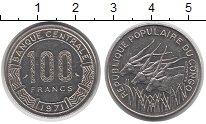 Изображение Монеты Конго 100 франков 1971 Медно-никель XF