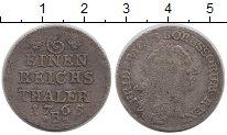 Изображение Монеты Германия Пруссия 1/6 талера 1765 Серебро VF