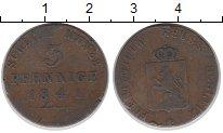 Изображение Монеты Германия Рейсс-Шляйц 3 пфеннига 1841 Медь XF