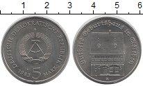 Изображение Монеты ГДР 5 марок 1983 Медно-никель UNC- Дом  Мартина  Лютера