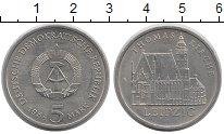 Изображение Монеты ГДР 5 марок 1984 Медно-никель UNC- Кирха  Св. Томаса  в