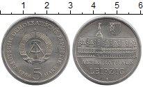 Изображение Монеты ГДР 5 марок 1984 Медно-никель UNC- Лейпциг