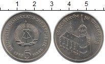 Изображение Монеты ГДР 5 марок 1983 Медно-никель UNC- Замковая  церковь