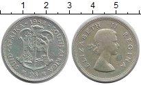 Изображение Монеты ЮАР 2 шиллинга 1954 Серебро XF