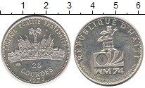 Изображение Монеты Гаити 25 гурдес 1973 Серебро UNC-
