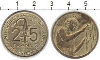 Изображение Монеты Западно-Африканский Союз 25 франков 1980 Латунь XF