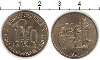 Изображение Монеты Западно-Африканский Союз 10 франков 1981 Латунь XF