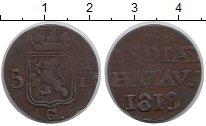 Изображение Монеты Нидерландская Индия 1/16 гульдена 1818 Медь VF