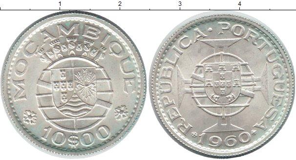 Картинка Монеты Мозамбик 10 эскудо Серебро 1960