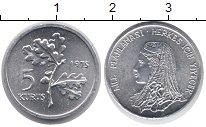 Изображение Монеты Турция 5 куруш 1975 Алюминий UNC-