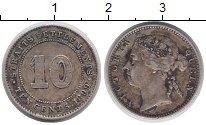Изображение Монеты Стрейтс-Сеттльмент 10 центов 1899 Серебро VF