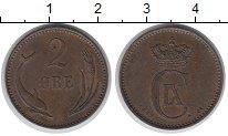 Изображение Монеты Дания 2 эре 1889 Медь XF