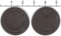 Изображение Монеты Гессен-Дармштадт 1/2 стювера 1805 Медь VF