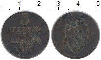 Изображение Монеты Германия Рейсс 3 пфеннига 1810 Медь VF