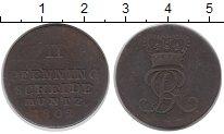 Изображение Монеты Германия Брауншвайг-Люнебург-Каленберг-Ганновер 2 пфеннига 1802 Медь XF