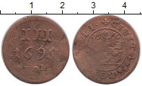 Изображение Монеты Росток 3 пфеннига 1695 Медь VF