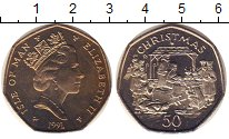 Изображение Монеты Остров Мэн 50 пенсов 1991 Медно-никель UNC-