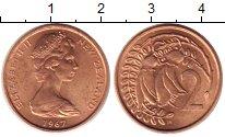 Изображение Монеты Новая Зеландия 2 цента 1967 Медно-никель UNC-