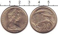 Изображение Монеты Новая Зеландия 20 центов 1967 Медно-никель UNC-