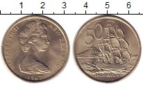 Изображение Монеты Новая Зеландия 50 центов 1967 Медно-никель UNC-