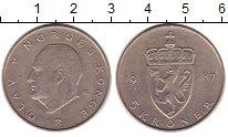 Изображение Монеты Норвегия 5 крон 1987 Медно-никель XF