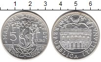 Изображение Монеты Италия 5 евро 2004 Серебро UNC