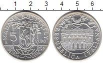 Изображение Монеты Италия 5 евро 2004 Серебро UNC 100 лет Мадам Баттер