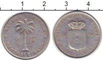 Изображение Монеты Бельгийское Конго 1 франк 1959 Алюминий VF