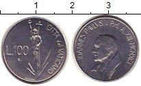 Изображение Монеты Ватикан 100 лир 1991 Медно-никель XF