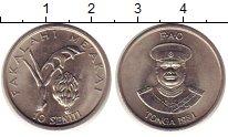 Изображение Монеты Тонга 10 сенити 1981 Медно-никель UNC