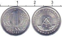Изображение Монеты ГДР 1 пфенниг 1989 Алюминий XF