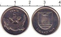 Изображение Монеты Кирибати 5 центов 1979 Медно-никель XF Крокодил