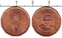 Изображение Монеты Свазиленд 1 цент 1975 Медь XF Ананас