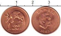 Изображение Монеты Замбия 1 нгвей 1983 Медь UNC-