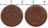 Изображение Монеты ЮАР 1/4 пенни 1955 Медь VF