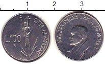 Изображение Монеты Ватикан 100 лир 1991 Железо XF